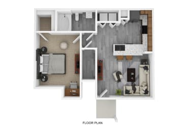 A1 Floor Plan at The Emerson, Pflugerville, TX