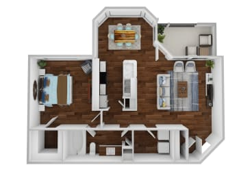 A1 floor plan at legends at indian springs