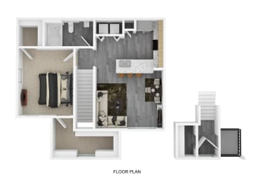 A3 Floor Plan at The Emerson, Pflugerville, Texas