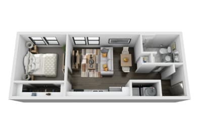 E1 Floor Plan at Vintage Gateway, Murfreesboro, 37129