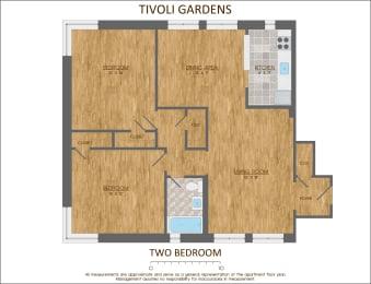 Two bedroom floor plan 900 sqft