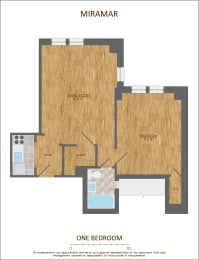 One Bedroom Floor Plan 600 sqft