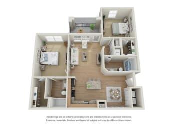 Barcelona Floor Plan at Century Dunes, Deland, 32724