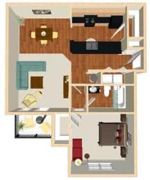 A1 Floor Plan at Marbella Place, Stockbridge, GA, 30281