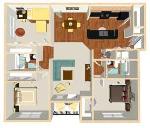 C1 Floor Plan at Marbella Place, Stockbridge, 30281