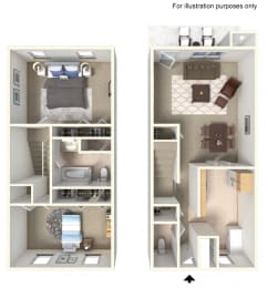 Two Bed 1.5 Bath