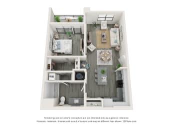 1 Bedroom 1 Bathroom A Floor plan at The Charles, Destin, Florida