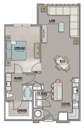 A1.2 Floor Plan at The Louis, Louisville, 40241