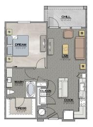 A1 Floorplan at Summerhouse Lakewood Ranch Apartments, Florida, 34211