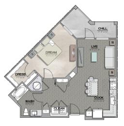 A2 Floorplan at Summerhouse Lakewood Ranch Apartments, Florida