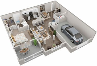 A2.1 Floor Plan at Lullwater at Jennings Mill, Athens, 30606