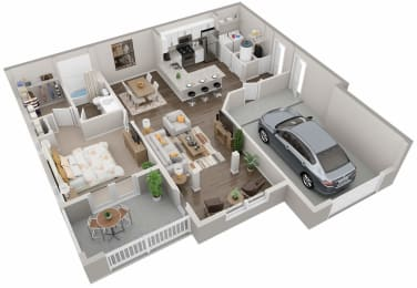 A2 Floor Plan at Lullwater at Jennings Mill, Athens, GA