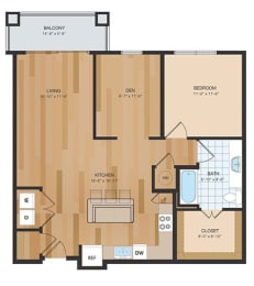 NEW PHASE A2A Floor Plan at The Residences at Park Place, Kansas, 66211