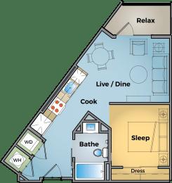 Floor Plan Urban Flat - S2