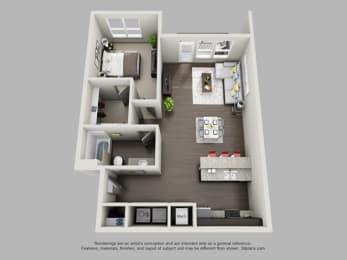 1 Bedroom 1 Bathroom Floor Plan at Heritage at Oakley Square, Cincinnati