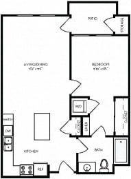 Floor Plan  1A1 / 1 floorplan