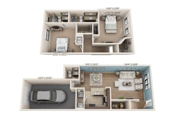 Floor Plan Buccaneer - Townhome