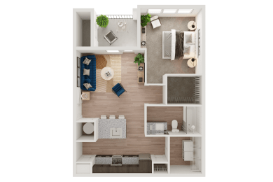 Aerial View of a Floor Plan Layout at Ironridge's Apartments in San Antonio, TX