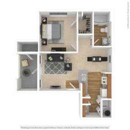 A1 Floor Plan at Savoy of Garland Apartments, CLEAR Property, Garland, TX, 75043