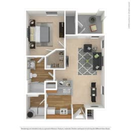 A2 Floor Plan at Savoy of Garland Apartments, CLEAR Property, Garland, TX