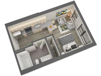 Ericsson Floor Plan at The Whit, Minneapolis, Minnesota