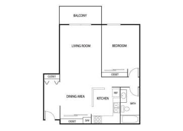 Floor Plan  Valley Pond Apartments in Apple Valley, MN 1 Bedroom 1 Bath