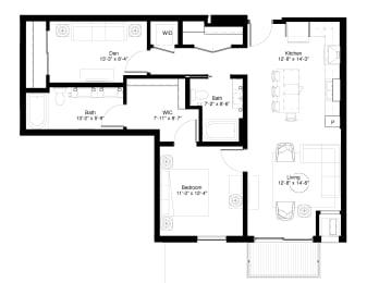 Red Oak Floor plan at Central Park West, St. Louis Park, MN, 55416