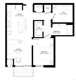 White Oak floor plan at Central Park West, Minnesota, 55416