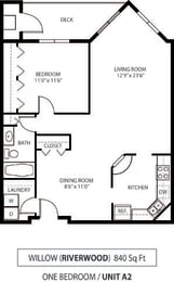 The Riverwood Apartments in Lilydale, MN 1 Bedroom 1 Bath