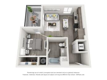 Aiya Apartments S1 Floor Plan