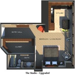 Floor Plan The Studio (Upgraded Suite Style)