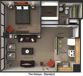 Floor Plan The Deluxe (Standard Suite Style)
