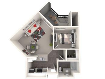 Barcelona Floor Plan at 55+ FountainGlen Rancho Santa Margarita, Rancho Santa Margarita, California