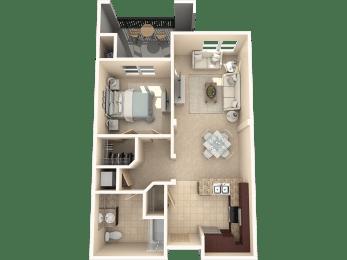 Cypress Floor Plan at 55+ FountainGlen  Jacaranda, Fullerton, 92833