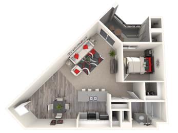 Villa Floor Plan at 55+ FountainGlen Laguna Niguel, Laguna Niguel, CA, 92677