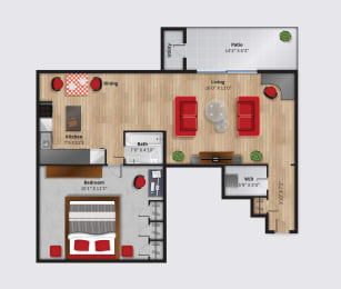 The Cove at HDG Apartments Spinnaker Floor Plan