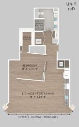 eLofts Apartments 10C Live Floor Plan