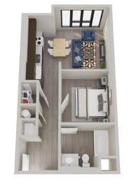 Floor Plan  The Hixon Apartments S1 Floor Plan