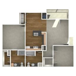 Trove Eastside Apartments Unfurnished B2 Floor Plan