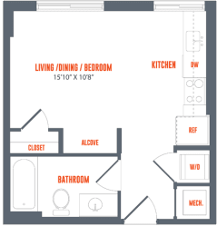 Legacy West End Apartments S2a Floor Plan