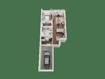 Iris Floor Plan at PARK40, Broomfield, CO
