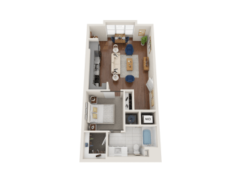 Wallflower Floor Plan at PARK40, Broomfield, Colorado