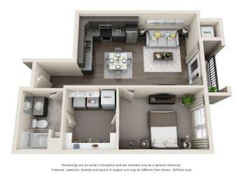 Floor Plan  Comet Westgate one bedroom floor plan