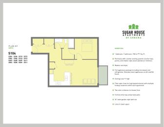 Floor Plan 1 Bed K9 (k9-a)
