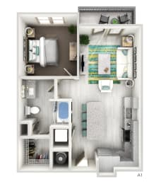Floor Plan The Brent - A1