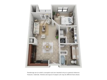 Floor Plan A2 Renovated