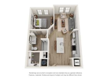 Floor Plan A1A - The Carver