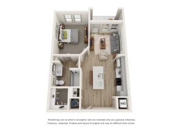 Floor Plan A1 - The Edison