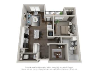 Floor Plan A2 with Den