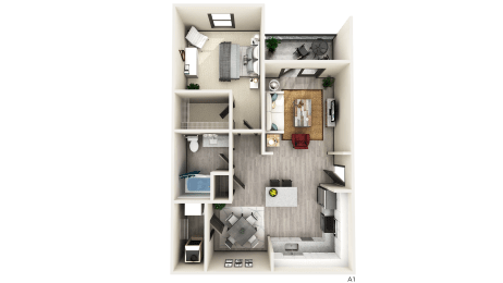 A1 Floor Plan at The Crest at Naples, Florida
